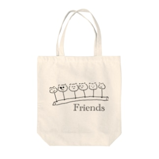 Friends(モノクロ) Tote bags