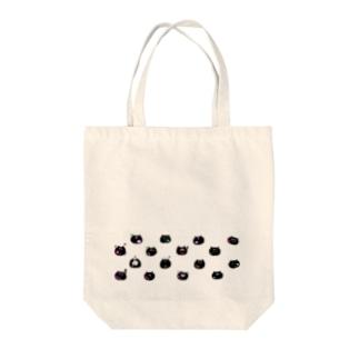 黒猫シャンティ Tote bags
