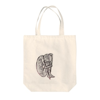 おなやみちゃん Tote bags