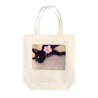 Cocoa Rose 黒猫とガーベラ Tote bags