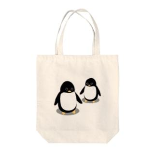 友達ペンギン Tote bags