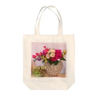 Cocoa Rose ガーベラ.チューリップ Tote bags