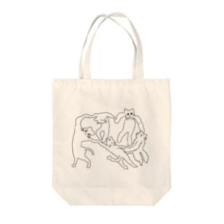 ネケチェン・アウトライン Tote bags