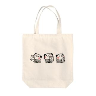 各方向に見せる令和パンダ Tote bags