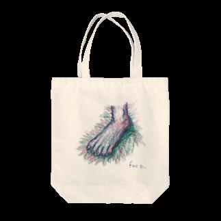 圭一郎のfoot Tote bags