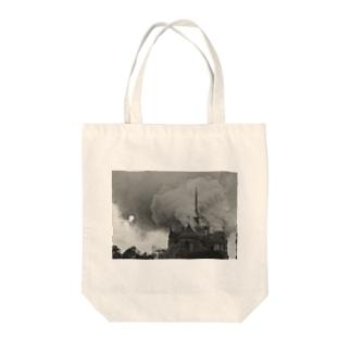 ノートルダム大聖堂火災 Tote bags