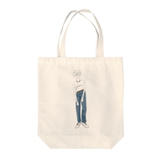 denim girl Tote Bag