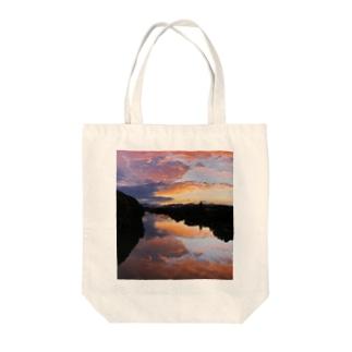 IRUMA_River TOYOMIZU Tote bags