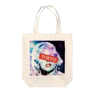 """マリリンモンロー""""Galaxy Blue"""" Tote bags"""