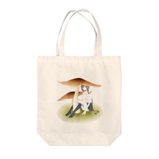 木野娘トート Tote bags