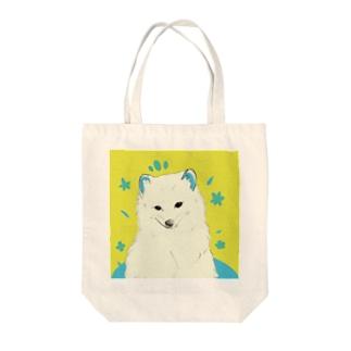 ホッキョクギツネちゃん Tote bags