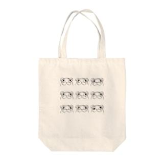 ポンコツたぬ吉 Tote bags