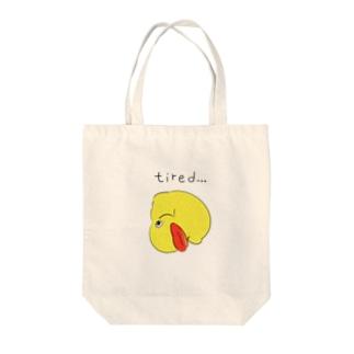 アヒルのおもちゃ Tote bags