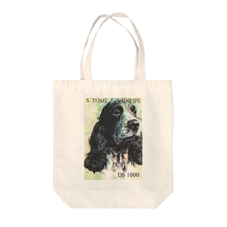FUCHSGOLDのサントメ・プリンシペの切手:犬切手 Tote bags