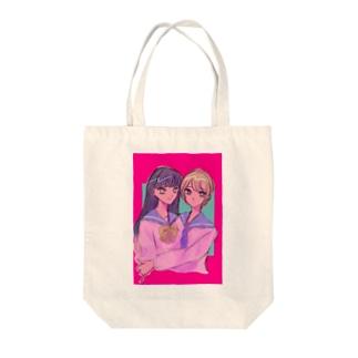 女の子かわいい Tote bags
