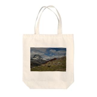 スイス山岳と電車の風景 #003 Tote bags