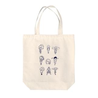 pitpotpat Tote bags