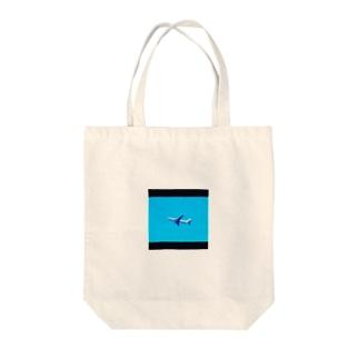 飛行機 Tote bags