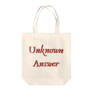 Unknown Answer Tote bags