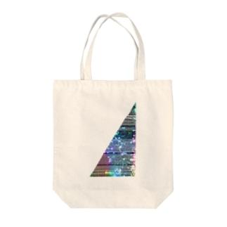 線入り直角三角形 Tote bags