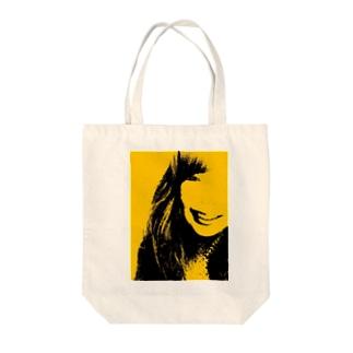 からふる屋さん のきいろは注意 Tote bags