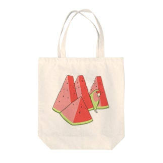 スイカとコザクラインコ Tote bags