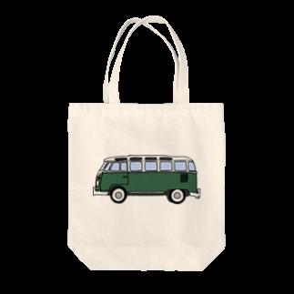 243のワーゲンバス グリーン Tote bags