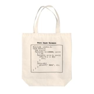 素数を出力するC言語プログラム:コンピュータ:科学:プログラマ:システムエンジニア Tote Bag
