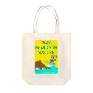 PLAY AS MUCH AS YOU LIKE Tote bags