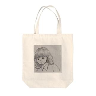 ノートの隅の子 Tote bags