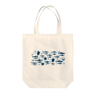 サメとエイと影 Tote bags