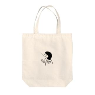 ハックションのハッ Tote bags