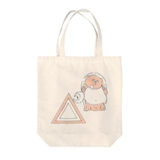 信楽焼たぬきと三角_ピンク Tote bags