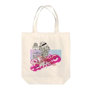 ピンクゆめかわいいパロディ Tote bags