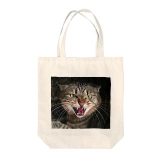 シャーネコ Tote bags