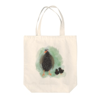 ヤンバルクイナの親子 Tote bags