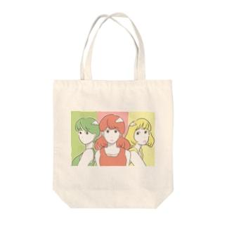 信号ガールズ Tote bags