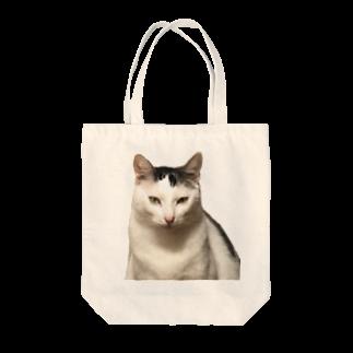 Kyomucatのリアルまめふく Tote bags