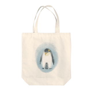 akane_artの皇帝ペンギンの親子 Tote bags