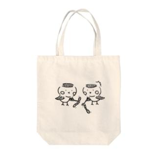 チュンチュン Tote bags