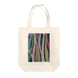 カラフルウィード  Colorful weed Tote bags