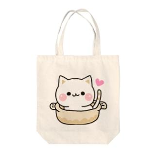 気づかいのできるネコ ねこ鍋 Tote bags