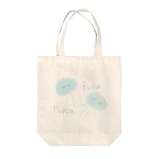 プカプカクラゲ Tote bags