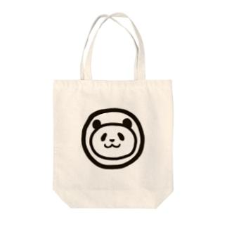 パンダのまんま Tote bags