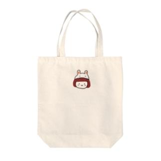 うさぎのもふもふちゃん [カプッ] Tote bags