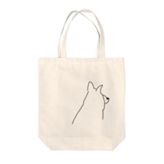 ゆるい犬 Tote bags