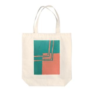 クレヨン四角クロス Tote bags