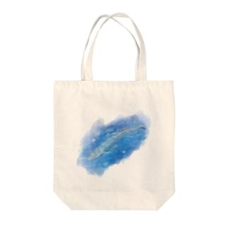 いきものイラスト(シロナガスクジラ) Tote bags