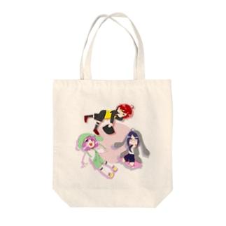 犬猫兎の Tote bags