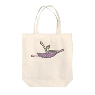 紫色チュチュのバレリーナ Tote bags